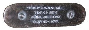 PARRIS-DUNN TRAINING RIFLE made in Clarinda, Iowa.