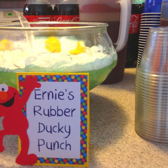 Sesame Street Party Food: Rubber Ducky Punch... It was too sweet.