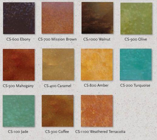 Concrete Coatings Acid Stain Colors