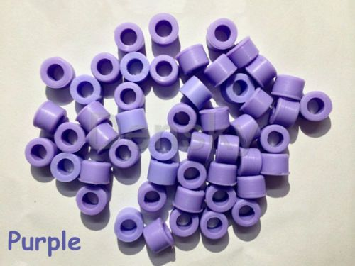 New 50 Pcs Purple Color Small Type Dental Silicone Instrument Color Code Rings
