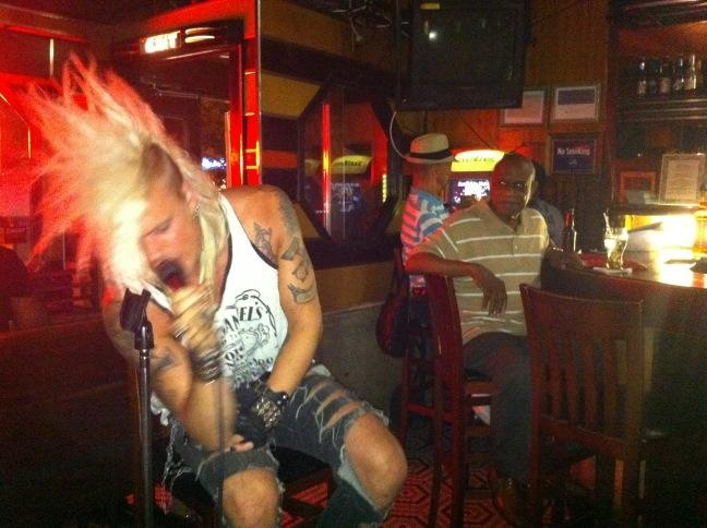 CrashDiet front man, Simon Cruz, sits in at Lenox Lounge blues night. Twitter / Recent images by @Gordon Mueller Polatnick