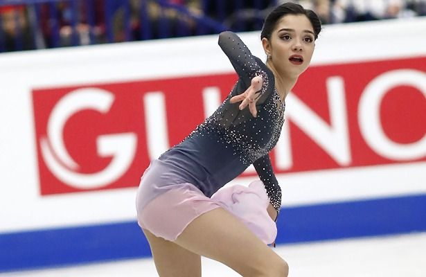 Russia's Evgenia Medvedeva performs her long program at the 2017 European Figure Skating Championships.