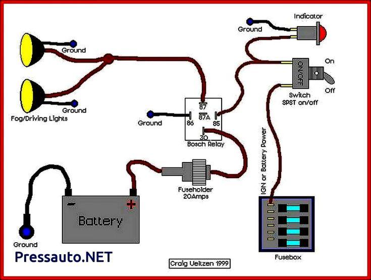 4 Pin Relay Wiring Diagram Lights Teknik Mesin Mobil Elektronik