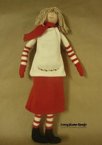 muñeca de navidad