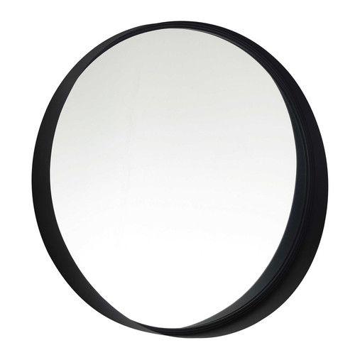 Salle de bain: miroir en métal noir D 60 cm CLIFFORD