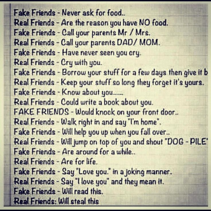 Fake friends vs real friends | SayingImages.com-Best Images With Words From Tumblr, Weheartit, Xanga