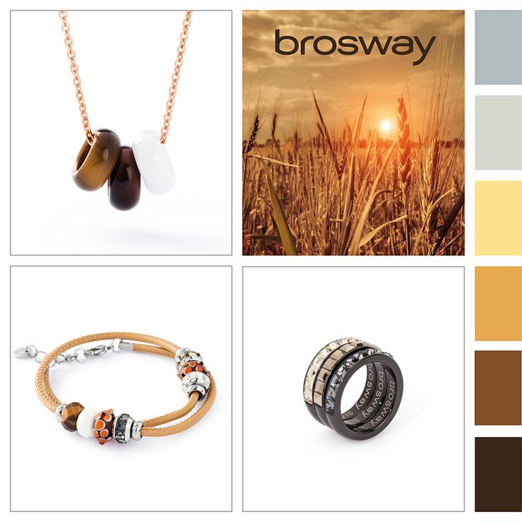 Ispirazione Colore: Colori del tramonto #BroswayJewels con #TrèsJolieMini #Bracciale, #TrèsJolie #Collana e #Tring #Anelli