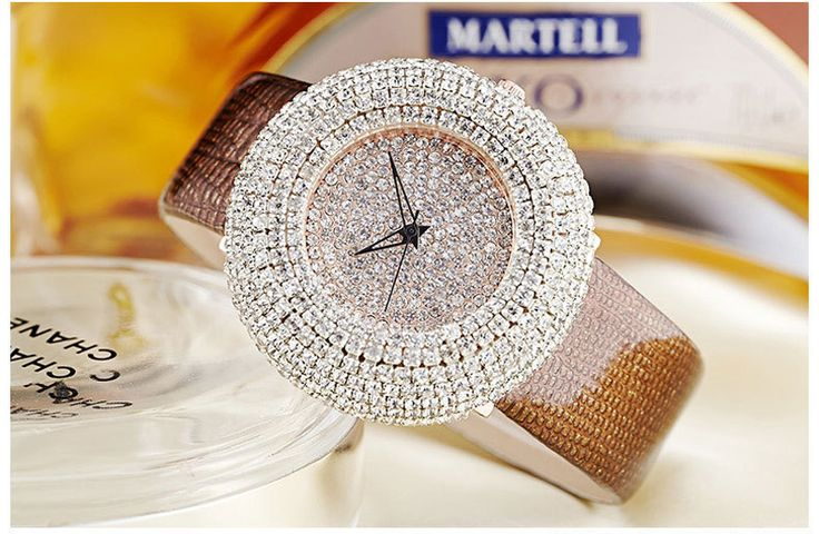 2016 leather fashion trend women's watch full diamond mosaic quartz belt watch - Online Shopping for Watches