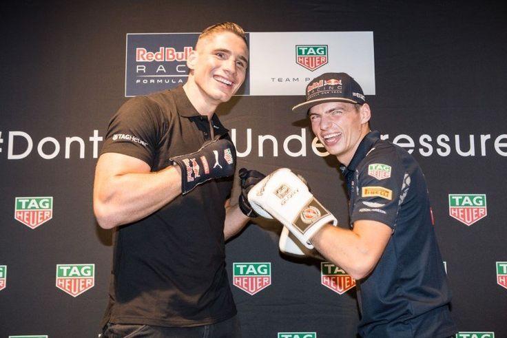 Max Verstappen en Rico Verhoeven Launch van de Tag Heuer Special Edition Watches 30-08-2016.