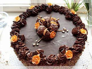 Tort czekoladowy z bakaliami   Szysia