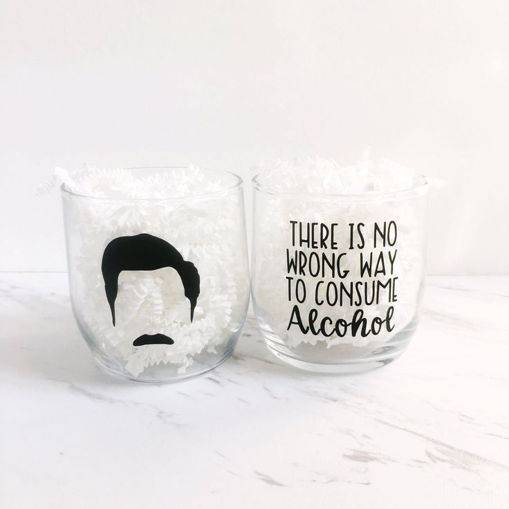 Ron Swanson Barware | there is no wrong way to consume alcohol | Parks and Rec drinking glass | funny Ron Swanson quote