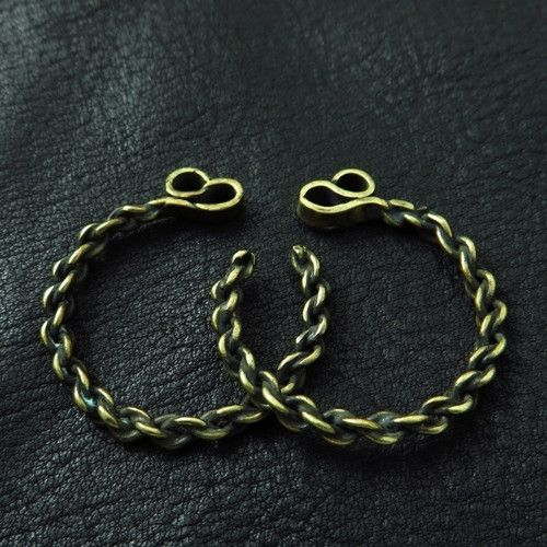 Bronze temple rings from medieval Poland (medium) from The Sunken City by DaWanda.com