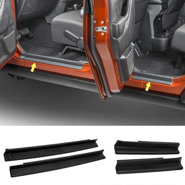 FMtoppeak One Set of 4 Pcs Aluminum Alloy Front /& Rear Door Sill Protector Cover Scuff Plate Entry Guards for 2007-2016 Jeep Wrangler JK 4 Door Blue