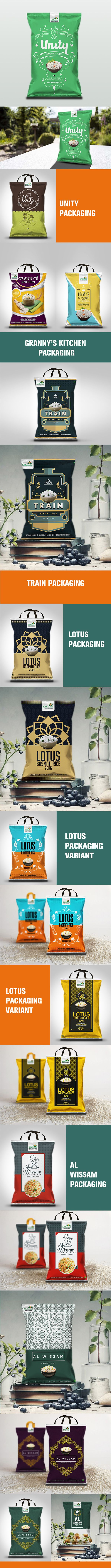 Rice Packaging Designs on Behance by Aditya Chakravarty, New Delhi, India, PD