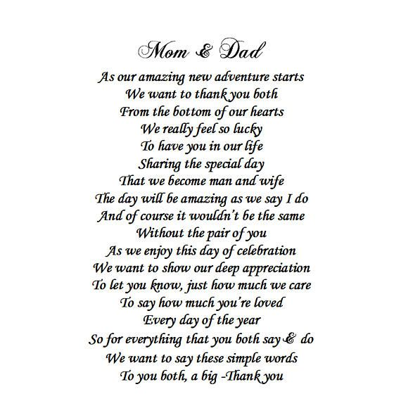 Parents of the Bride Gift Mother of the Bride Father of