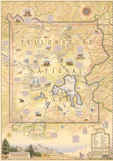 Yellowstone: Our inaugural map celebrates the world\'s first National ...