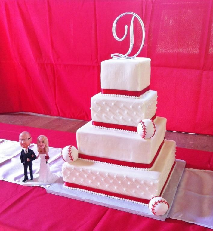 baseball theme wedding ideas | Baseball Themed Wedding Cake by lisascakes | Cake Decorating Ideas