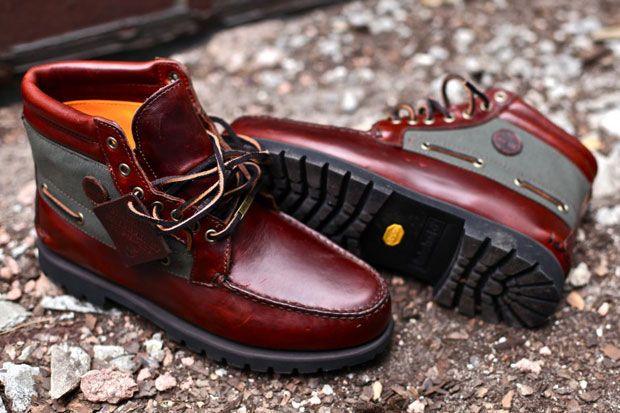 I'd rock these with a nice brown or olive thermal and dark denim jeans.