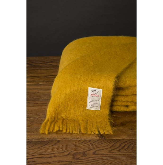 Indulge yourself with this gorgeous Mohair Throw in a rich amber shade. It's time to treat yourself.