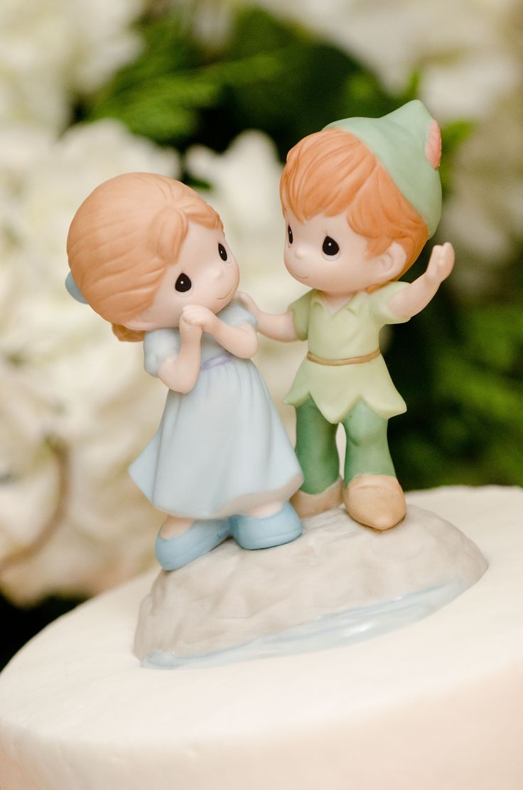 peter pan and wendy wedding cake topper wedding cake topper pan and wendy disney precious 18306