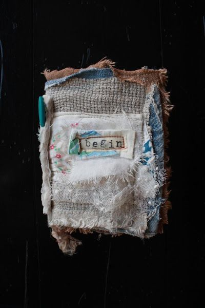 Embroidered Textile Art Books and Journals by Misako Mimoko