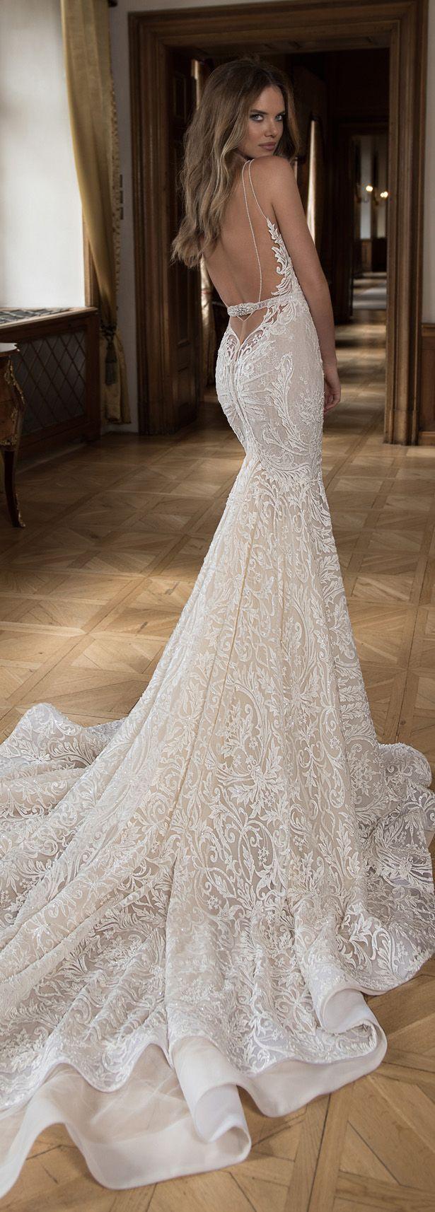 Mermaid wedding dresses with feather bottom   best wedding ideas images on Pinterest  Wedding bridesmaid