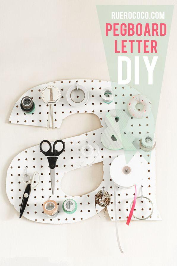 Make it pegboard letter diy diy ing pinterest peg for Diy pegboard craft organizer