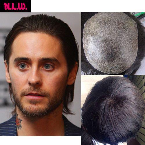 "100% European virgin remy human Hair toupee Straight hair pieces for men 10""X8"" #NLW #Toupeeformen"