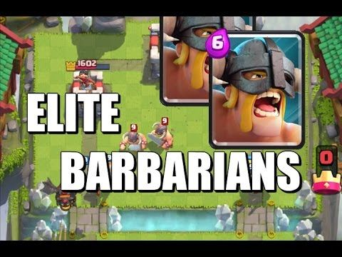 Elite Barbarians Gameplay, Review and Strategy - Clash Royale