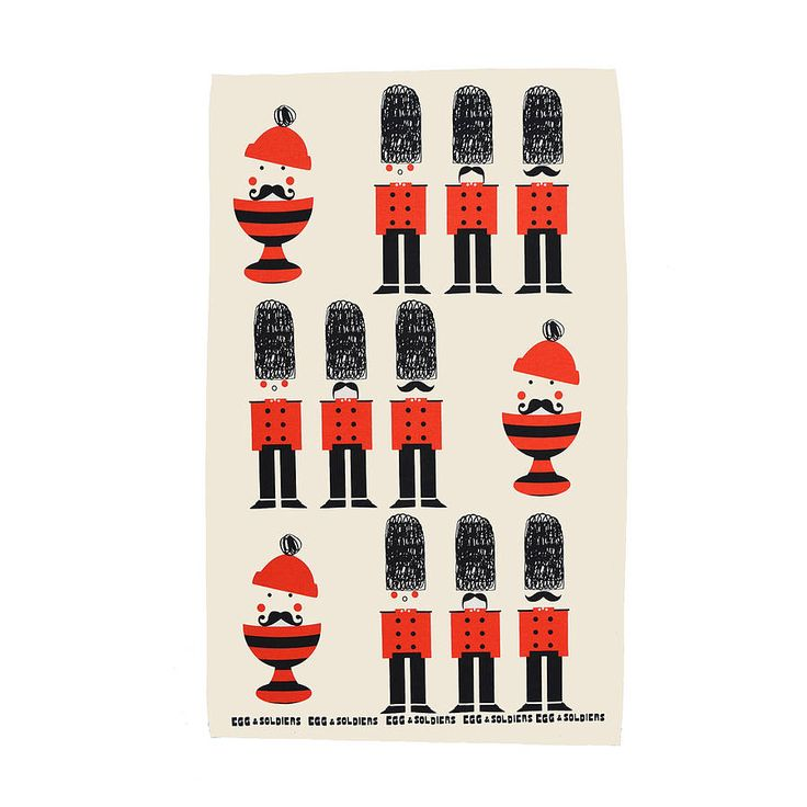 Egg And Soldiers Cotton Tea Towel