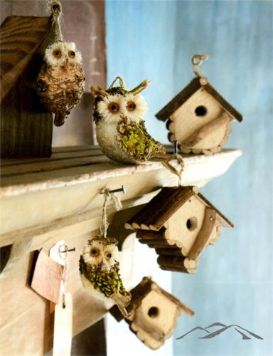 Birdhouse Christmas Tree Ornaments : Owl ornament birdhouse these darling and