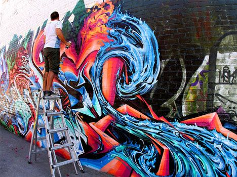 Time lapse graffiti walk-through. The dubstep soundtrack works well if you can handle it.