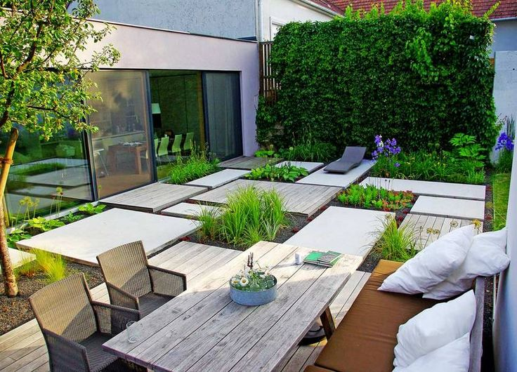 207 best Small modern garden concepts images on Pinterest