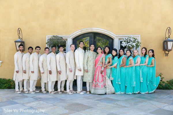 Wedding Party Portrait http://www.maharaniweddings.com/gallery/photo/31900