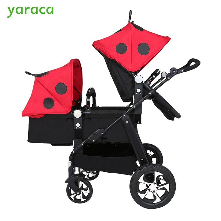 ==> [Free Shipping] Buy Best Twin Stroller Baby Carriage For Twins Prams For Newborns Cute Ladybug Panda Pattern Pram Twins Lightweight Double Strollers Online with LOWEST Price | 32817248222
