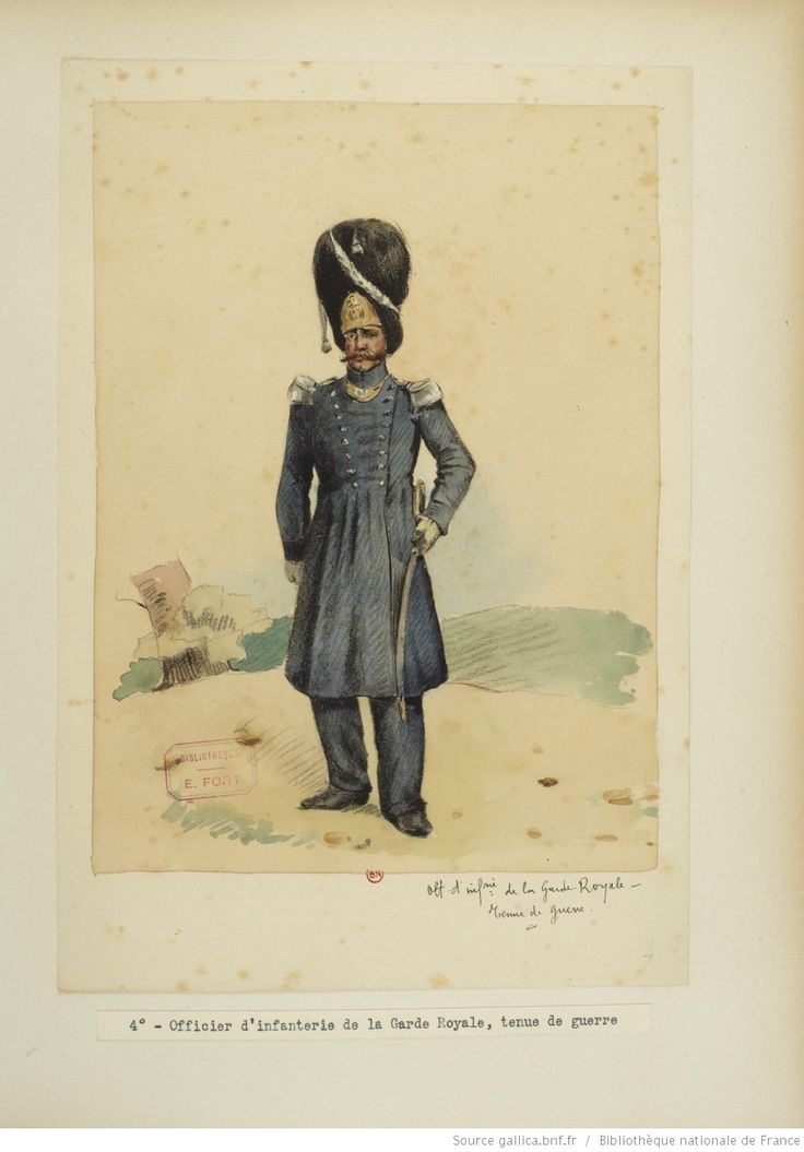 French; Garde Royale, Infantry Officer, Tenue de Campagne by E.Fort