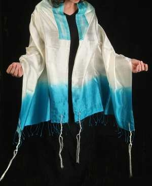 silk tallit [pronounced tah-leet, emphasizing 2nd syllable] or prayer shawl  Tallit is the modern / Sephardic Hebrew and Ladino pronunciation. Its plural form is  tallitot [pronounced tah-lee-tote, with emphasis on final syllable]. In Ashkenazic (Eastern European) Hebrew and Yiddish the same item is called a tallis [pronounced tah-liss, emphasizing the first syllable]. Its plural form is talleisim [pronounced tah-lay-seem, emphasizing the 2nd syllable].