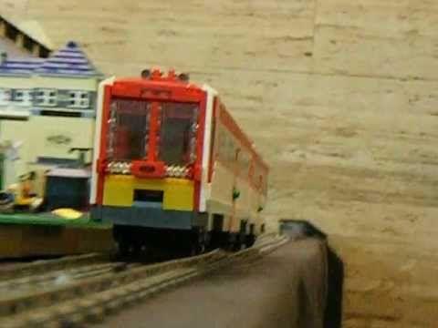 A Hungarian train built with LEGO bricks. #LEGO #train #MAV
