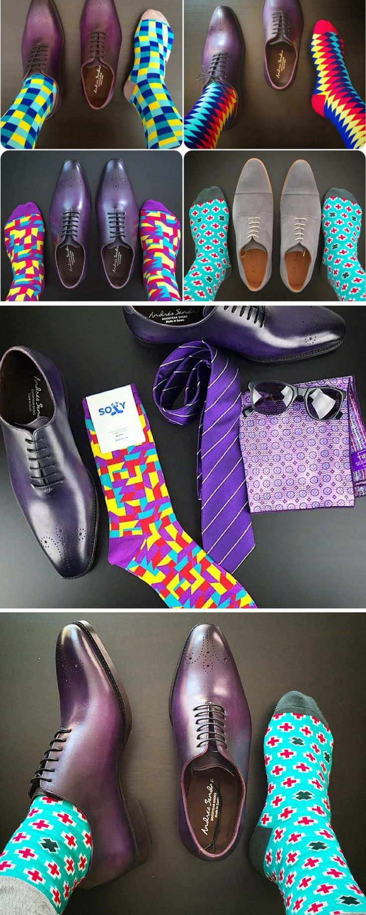 Soxy.com designs the coolest, most fun dress socks.