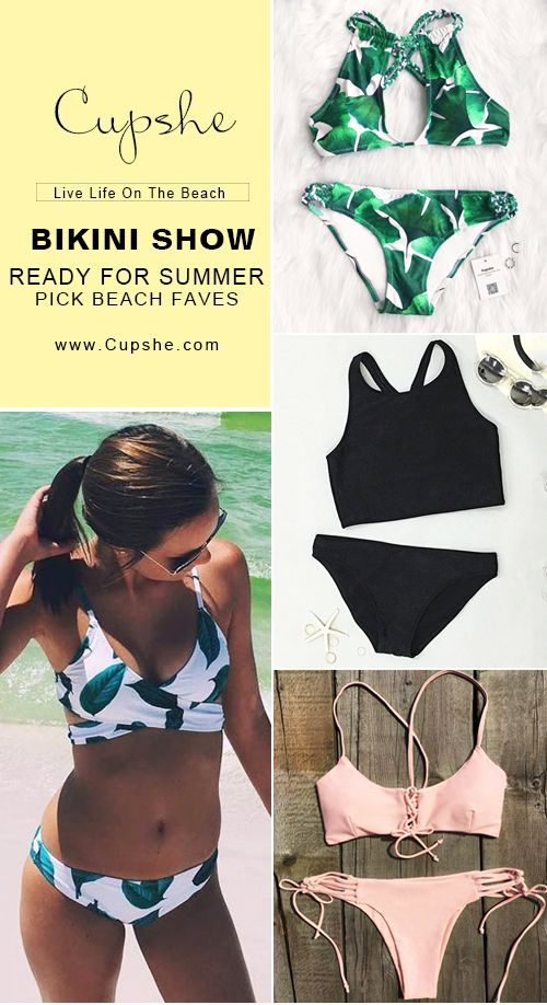 Inspire confidence and beauty! Ready for 2017 summer? Cupshe picked various style swimsuits for you to have a try. It is the only best must-have!