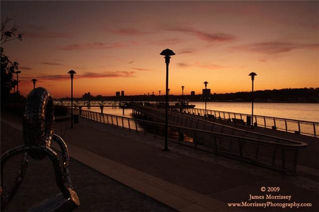 Sunset West Harlem Piers