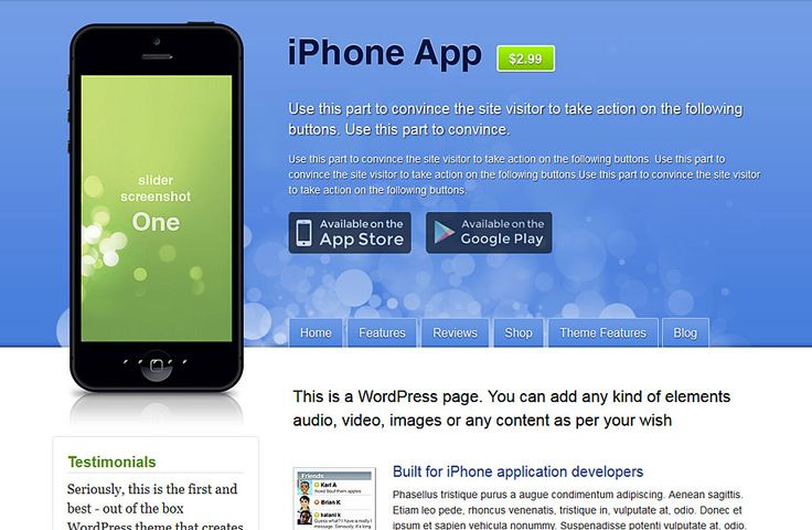 Templatic Nulled iPhone App theme for free