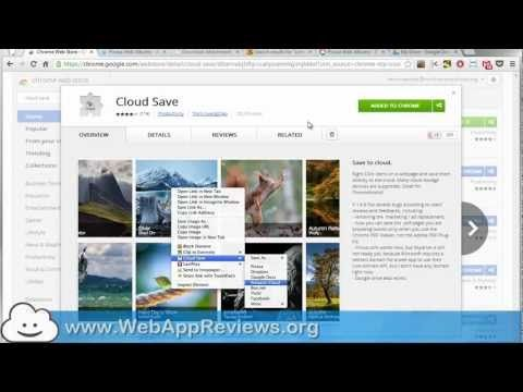 Cloud Save - Chrome Extension ReviewWatch our video review: The more we move into the cloud, the more important it is to be able to function without a hard drive. For example, you may be using a computer that does not have any local ..