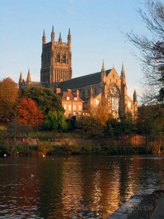 Worcester Cathedral by kevin laidler - Digital Photographer. The cathedral sits on the banks of the River Severn and was built in 1084, Worcestershire, England