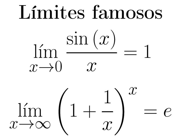 Two of the most famous limits of mathematics. www.facebook.com/matematicaconlatex