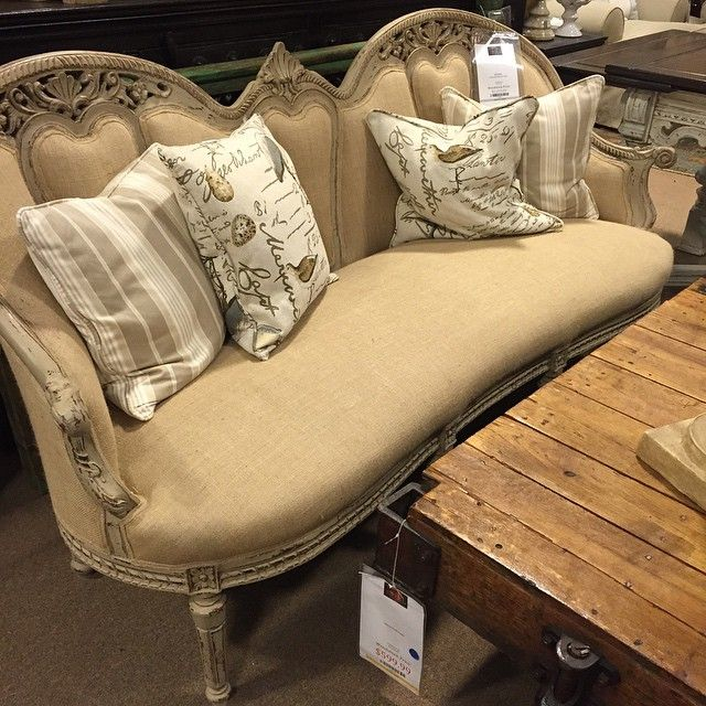 Affordable Love Love Love This Vintage Burlap Sofa Stylemyhome Acworh Hiram  Atlanta Furniture With Woodstock Furniture Outlet Woodstock Ga