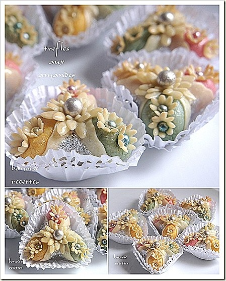 Trefles aux amandes. (Algerian almond sweets)