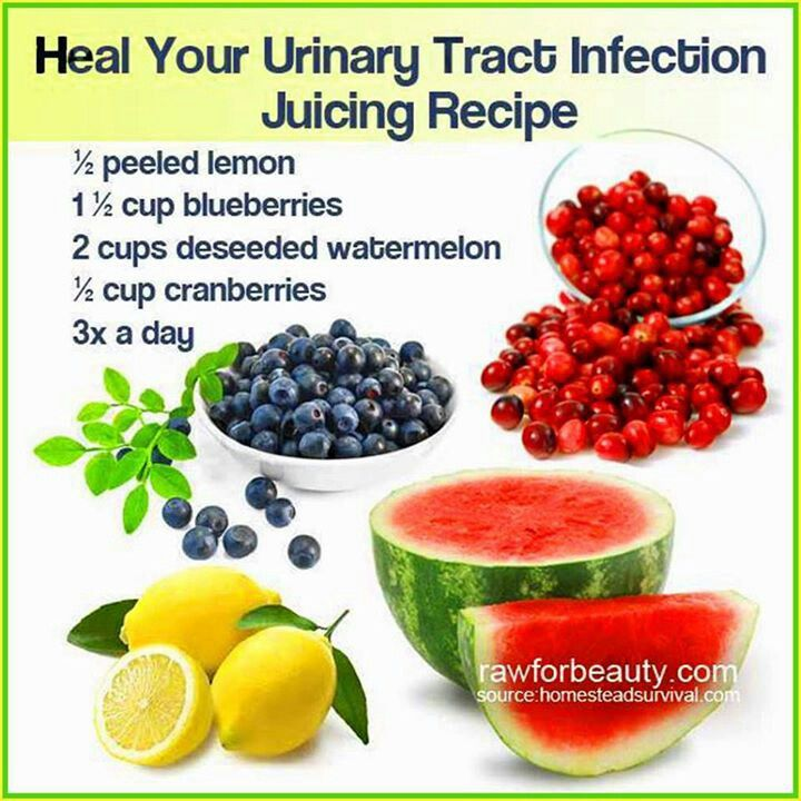 Juicing to heal urinay infections