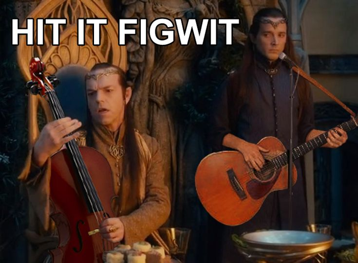 "What does Figwit mean? Well, it's a fan-created name for the unnamed random Elf (played by Bret McKenzie who is part of Flight of the Conchords) that appears in Peter Jackson's films. The name stands for: ""Frodo Is Grea....Who Is THAT?!"" So yeah, this is Bret McKenzie returning for the Hobbit films (he'll be in TWO, actually), except this time is name is Lindir."