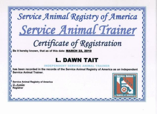 Service Dog Id Card Template Free Download Beautiful Service Dog Certificate Template Certificate Templates Training Certificate Templates